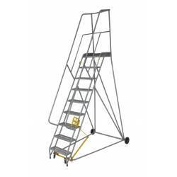 Escalera de acero de castillo de 7 a 10 peldaños con doble sistema de seguridad