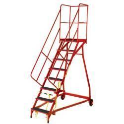 Escalera de acero con acceso de seguridad de ocho peldaños