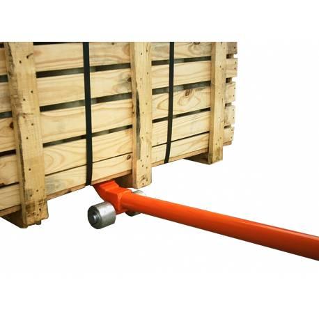 Barra elevadora de cargas en uso