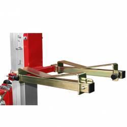 Adaptador cargas diseño curvo para elevador manual plegable con manivela en uso