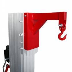 Gancho para elevador manual plegable de 200/300/400 kg de capacidad en uso