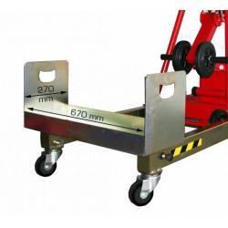 Bandeja contrapeso para elevador manual plegable de 200/300/400 kg de capacidad detalle