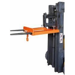 Gancho de carga para horquillas de gran profundidad en uso